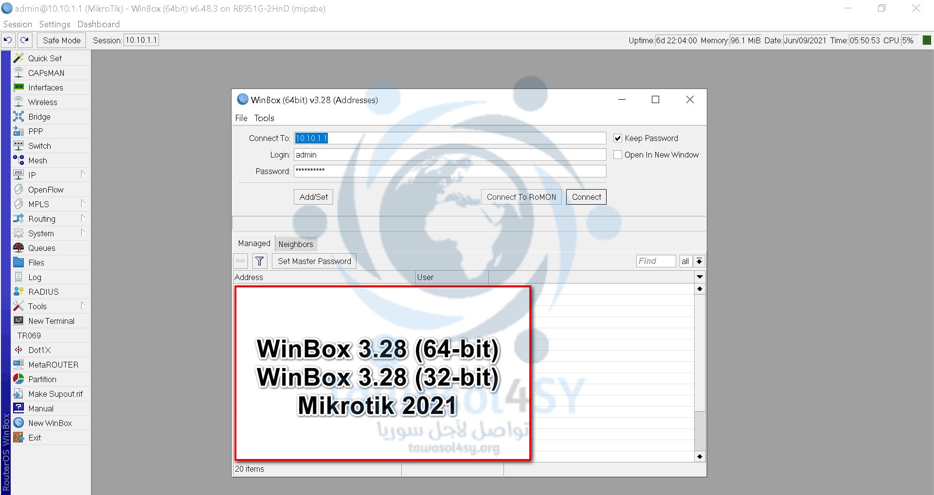WinBox 3.28 (64-32-bit) 2021