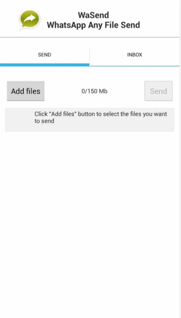 WaSend هو أداة تسمح لك ارسال أي نوع من الملفات