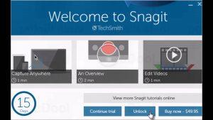 برنامج تصوير شاشة الكمبيوتر snagit