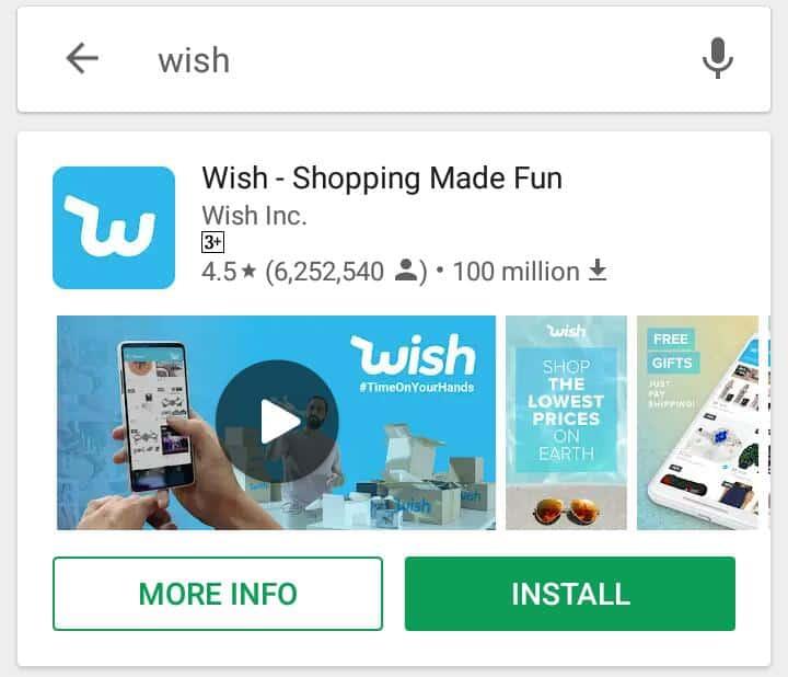 تحميل تطبيق wish للشراء من الإنترنت للأندرويد