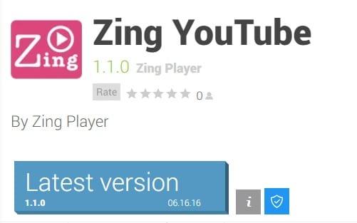 تحميل تطبيق بديل اليوتيوب مجاناً Zing YouTube Player