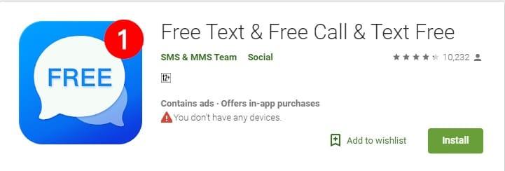 أهم تطبيقات الحصول على رقم أمريكي مجاني تطبيق TEXT FREE
