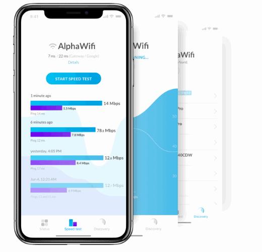 واجهة برنامج UBNT Mobile WiFiman
