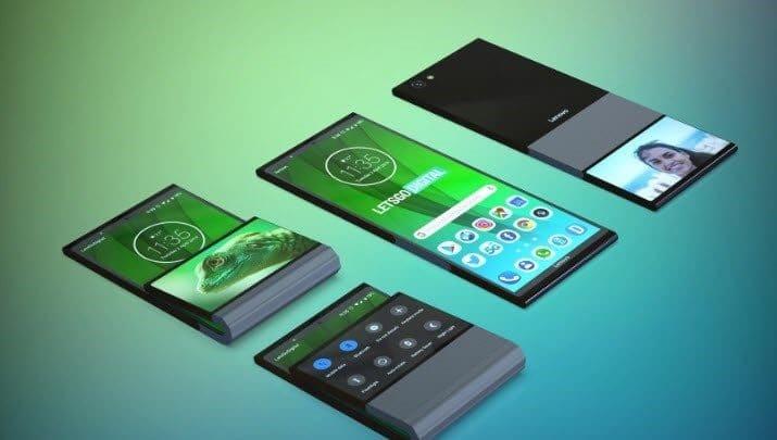 """شركة """"لينوفو Lenovo"""" تُقدّم براءة اختراع لهاتفها القابل للطي عمودياً"""