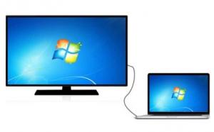 عرض شاشة الحاسوب على التلفاز